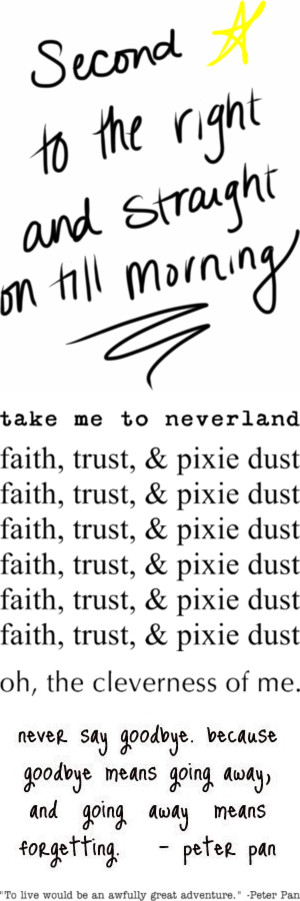 """""""peter pan quotes for tattoos ♥"""" by nowthatimthinkings0ber ❤ liked on Polyvore"""