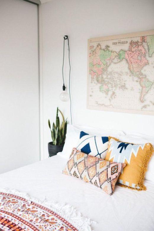 modern bohemian bedroom inspiration diy gypsy ideas dorm modern