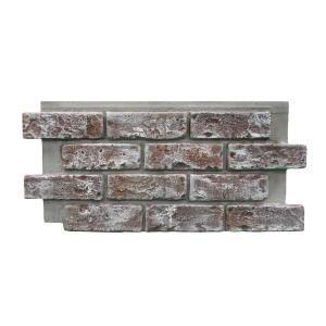 Genstone Chicago Brick 22 5 In X 11 75 In Brick Veneer Siding Half Panel Brick Veneer Siding Brick Paneling Stone Siding