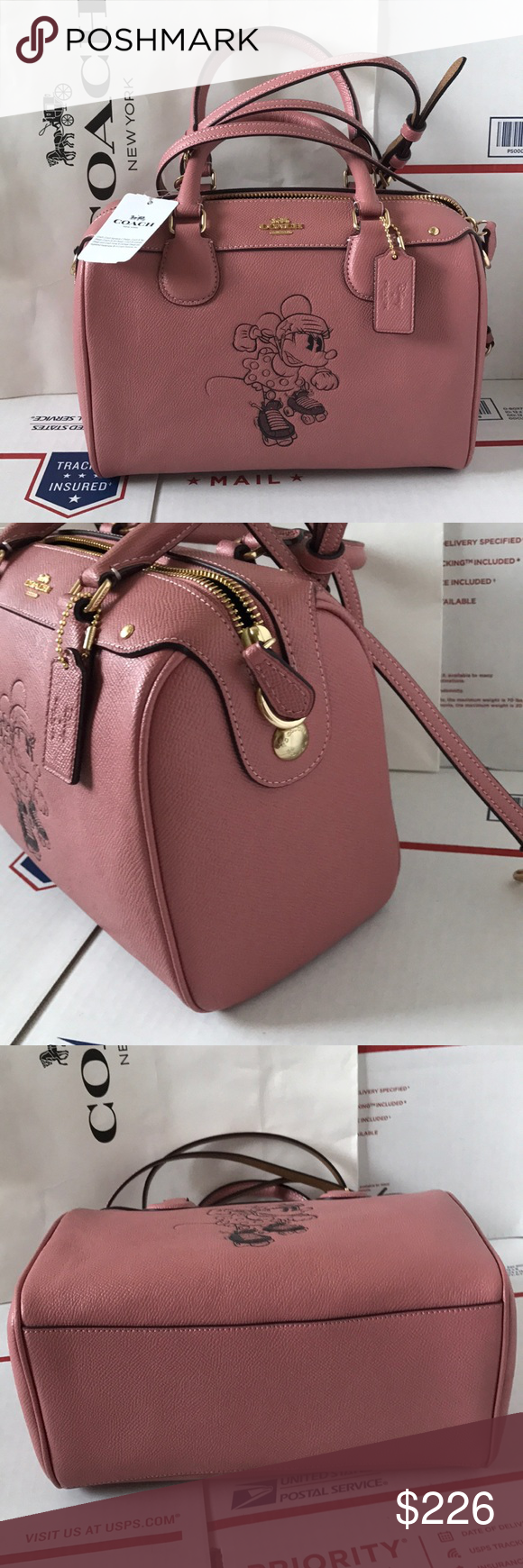 23c323966b 🎆💕coach Minnie Bennett💕Satchel crossbody Authentic brand new with tags.  Strap removable can wear Satchel  crossbody. Gold hard wear