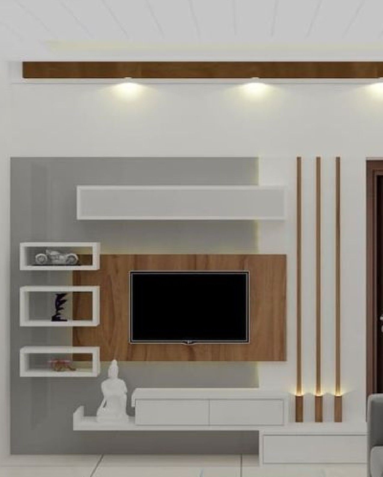 Pin By Juana Schultz On Wall Units In 2020 Living Room Tv Unit Designs Wall Tv Unit Design Tv Unit Interior Design