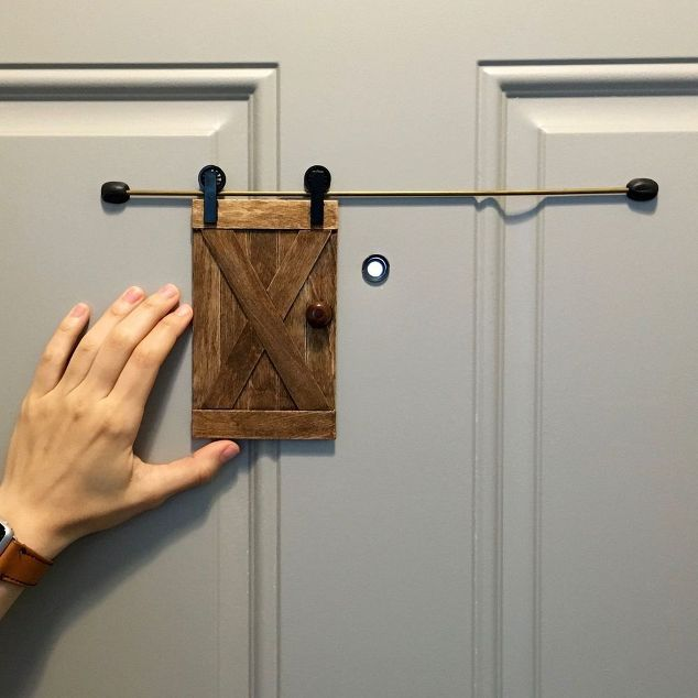 Mini Barn Door For Your Home Security Diy Projects