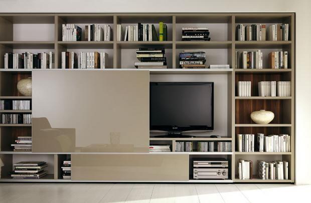 Tv Und Bibliotheksystem Mega Design Von Hulsta Bild 25 Wandtafel Design Wohnen Moderne Innenarchitektur