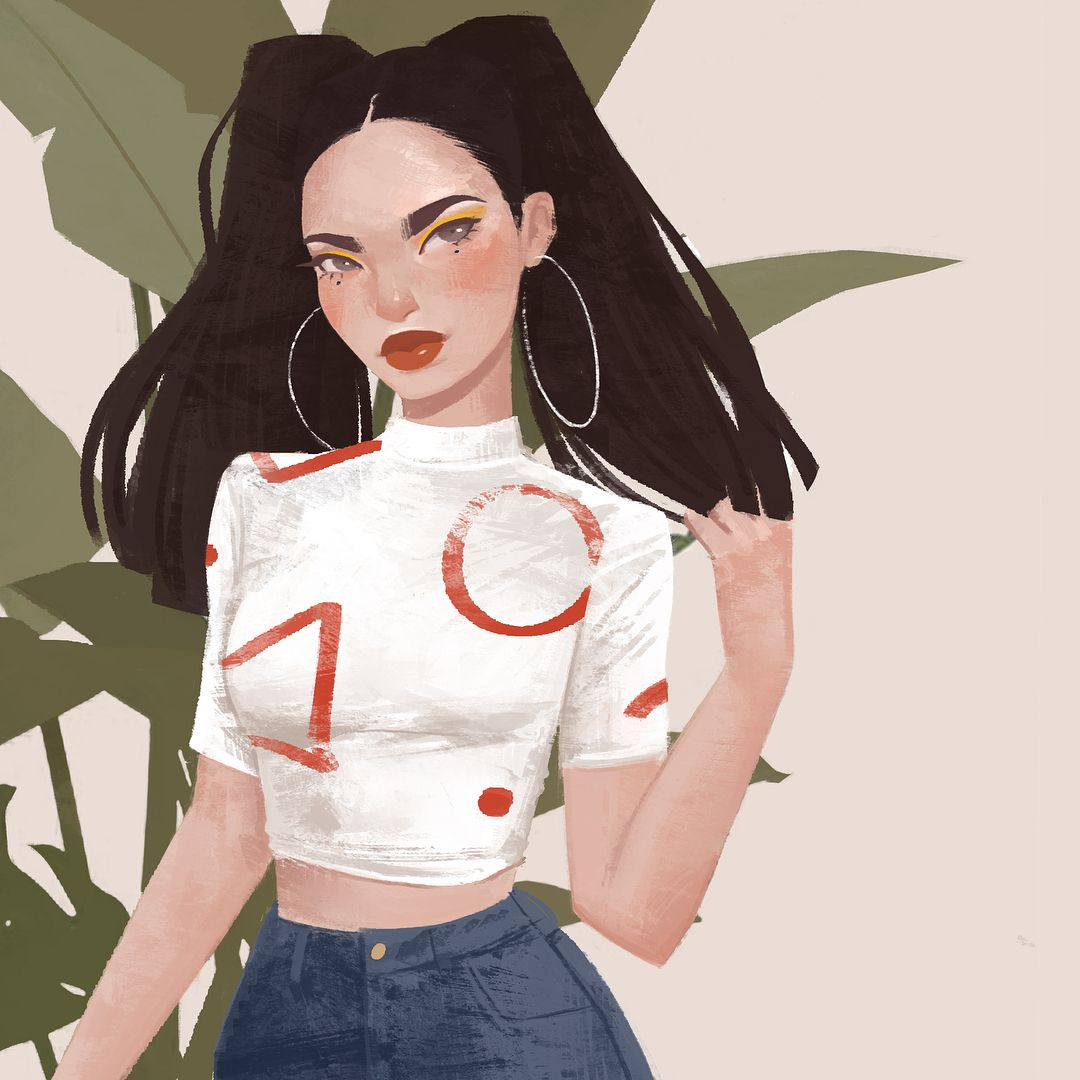 Mondays | Just finished this piece last night! I often get asked how long it takes for me to finish a painting and it really depends. I believe this one took around 4 hours or so. How long do you guys usually spend on one piece?  · · · #illustration #illustrator #drawing #style #ootd #fashion #beauty #painting #girl #artoftheday #design #artist #digitalart #love