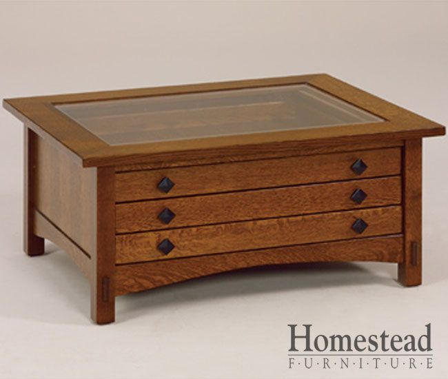 Springhill Glass Top Coffee Table By Homestead Furniture