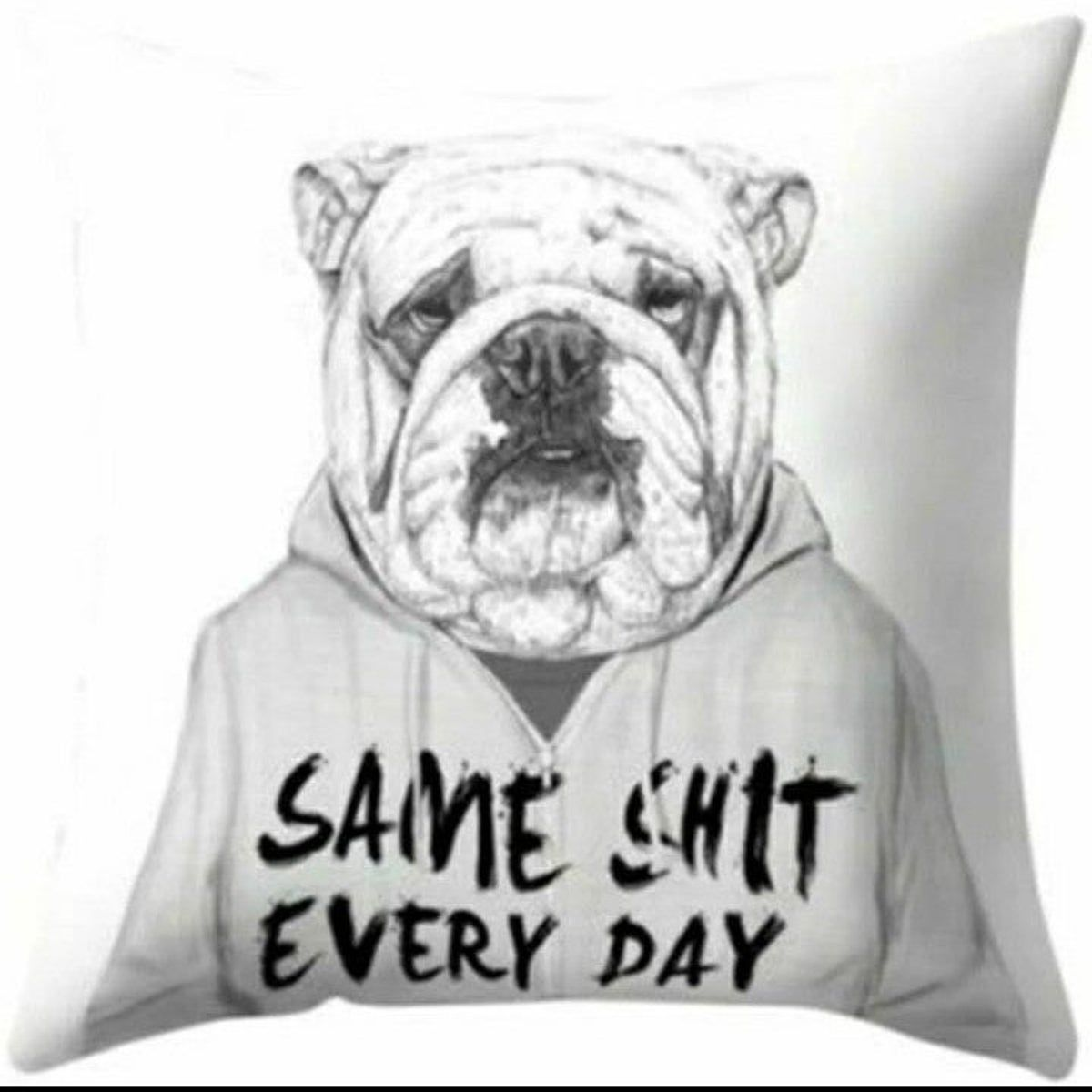 English Bulldog Pillow Case Funny