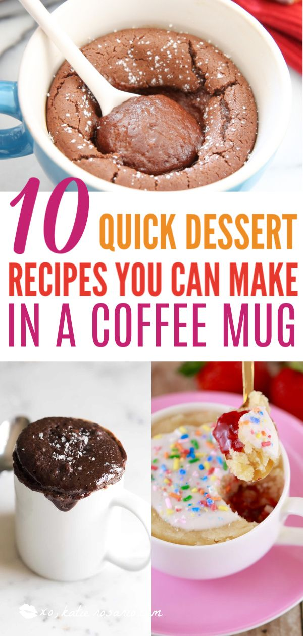 10 Quick Dessert Recipes You Can Make In a Coffee Mug images