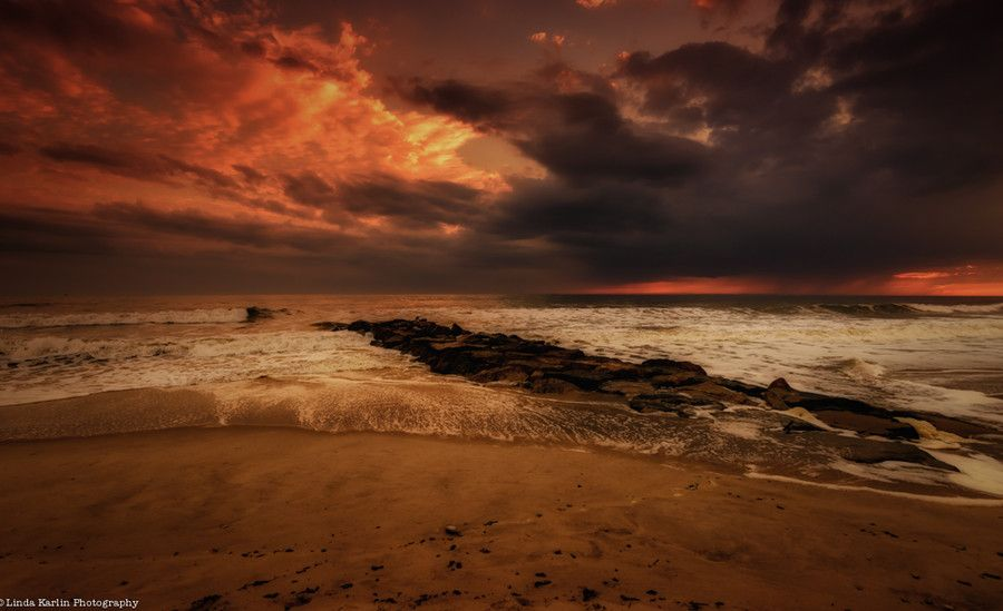 The Waves Ushering In The Sunset by Linda Karlin on 500px