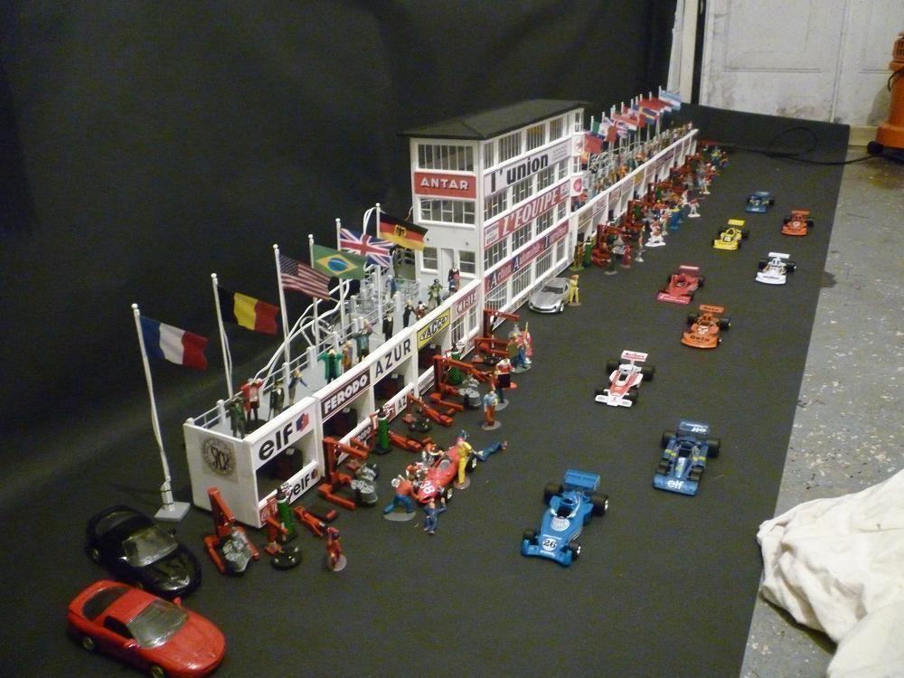 1 32 Scale Scalextric Buildings Reims Circuit France Slots Bau Modellbau