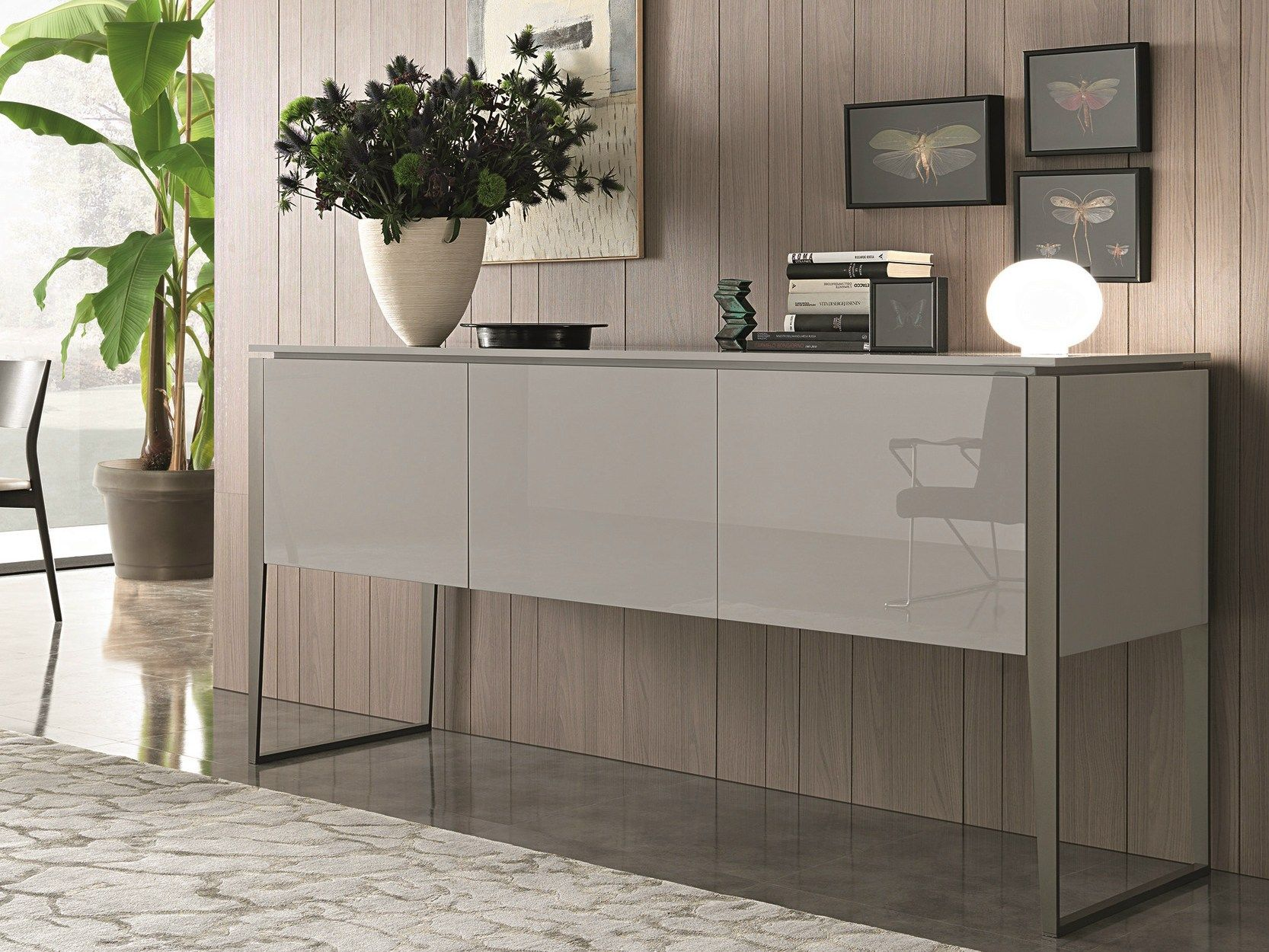 Lacquered Sideboard With Doors Nibbio Atelier Collection By Misuraemme -