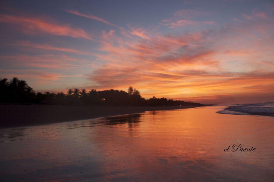 Tropical Beach Sunrise Salvador Beaches #Brazil |  Photo By - Emilio Puente
