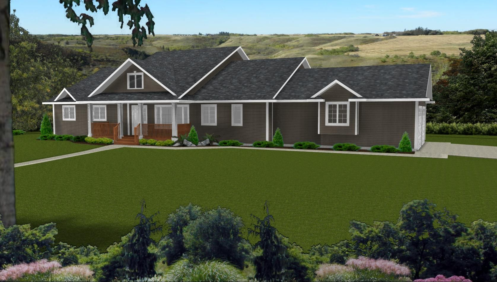 With so many options of country home plans at house plans for Roof designs for ranch homes