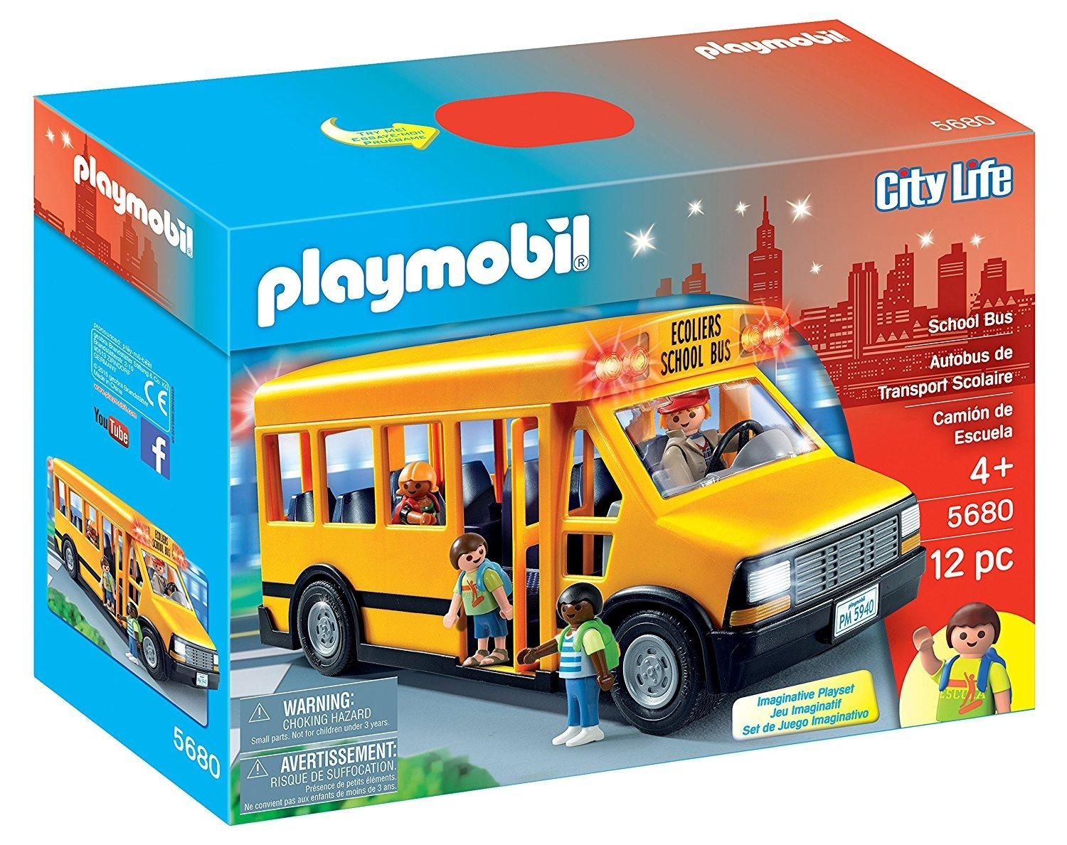 Playmobil school bus vehicle playset gifts for kids pinterest