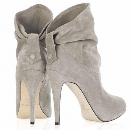 Amazing grey high heels!  NEED!