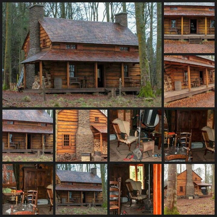 "BTS Photos Of The ""Big House"" On Fraser's Ridge"