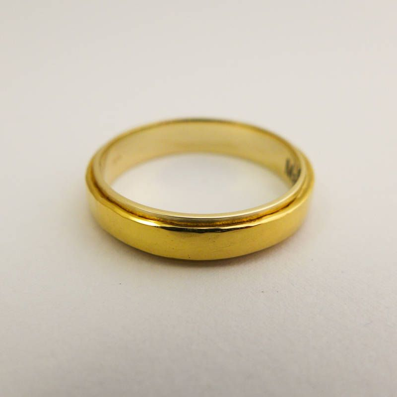 7619ecfd6b0b9d 22 k gold ring, Wide wedding band for men and women, Hammered yellow gold  ring, 14 K 22K wedding band, Hand made gold ring, Unisex ring