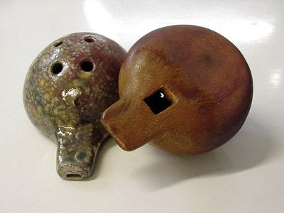 From Ceramic Arts Daily - Making music with Clay:  How to make a ceramic Ocarina.  8/10/11.  Great tutorial.