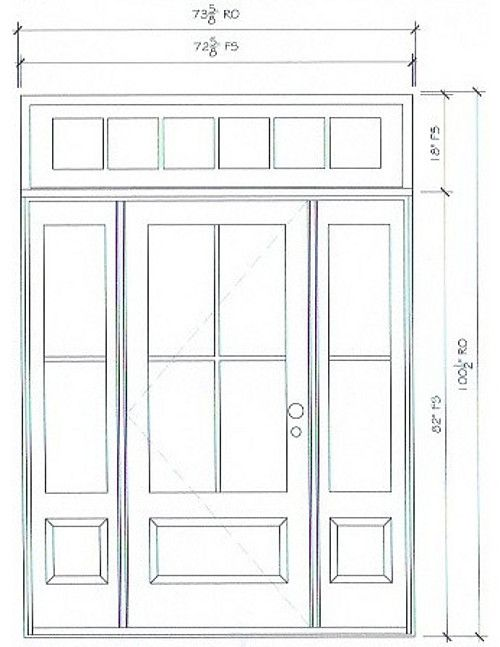 Merveilleux Front Door Plans. Front Door Measurements. Front Door Sidelight And Transom  Measurements. #FrontDoor #Sidelight #Transom #FrontDoor #Measurements