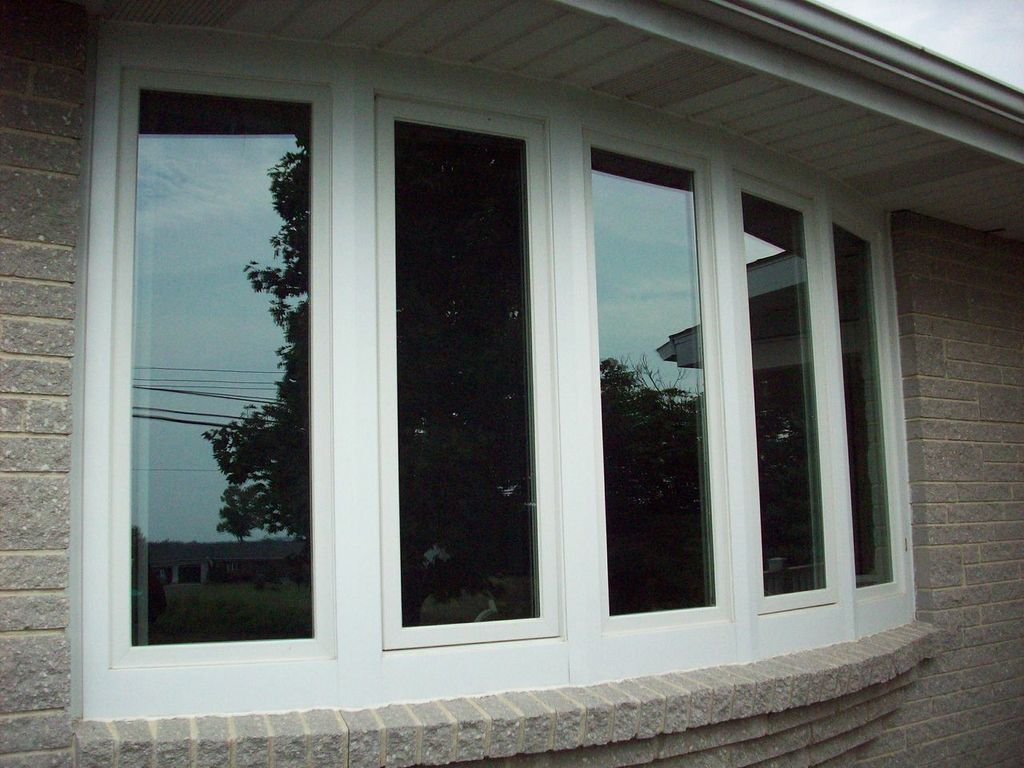 White Casement Window Bow Windows Bay Replacement Andersen Photo And Two