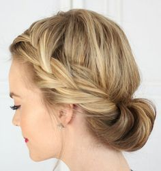 Tuck and Cover French Braid | 10 DIY Hairstyles For Long Hair