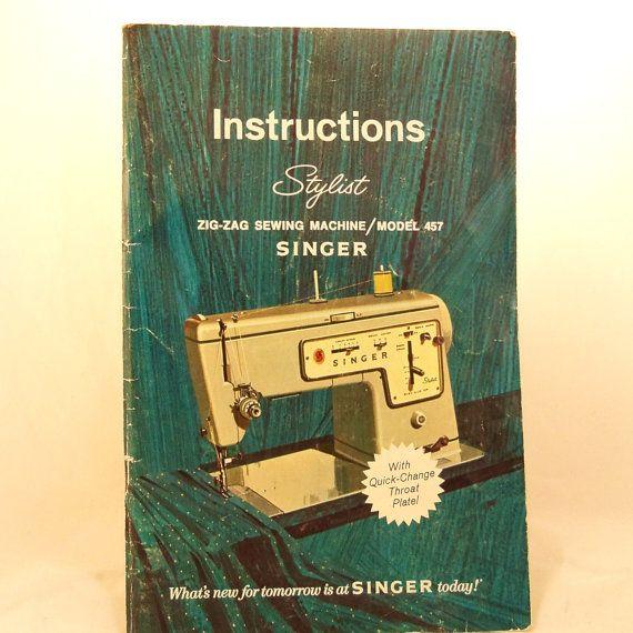 Singer model 457 sewing machine manual download.
