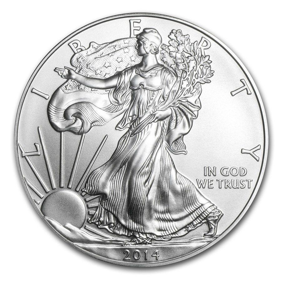 2014 1 Oz Silver American Eagle Bu Silver Bullion Coins Silver Bullion Silver Coins