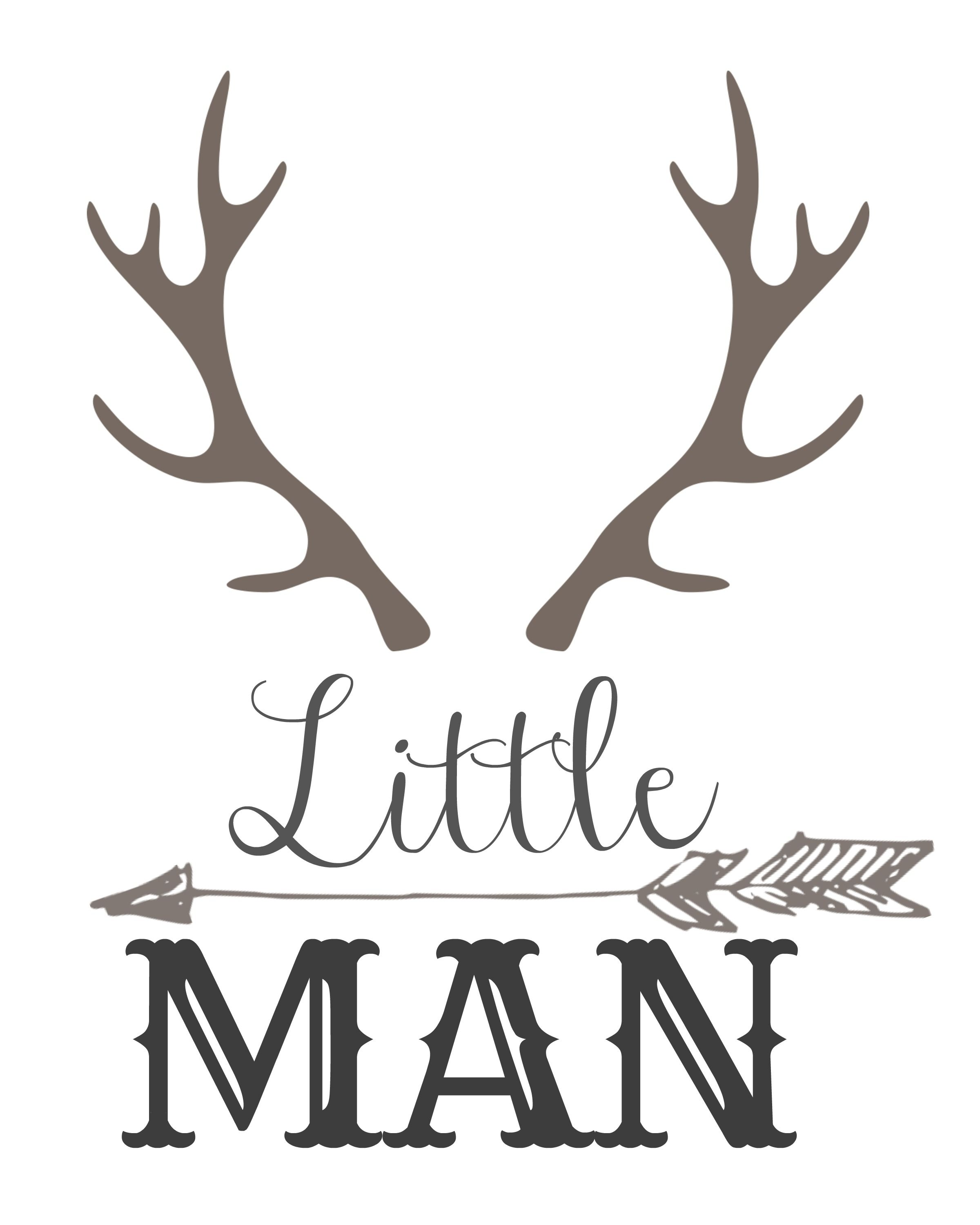 Baby Boy Moose Clipart Little Man with horns ...