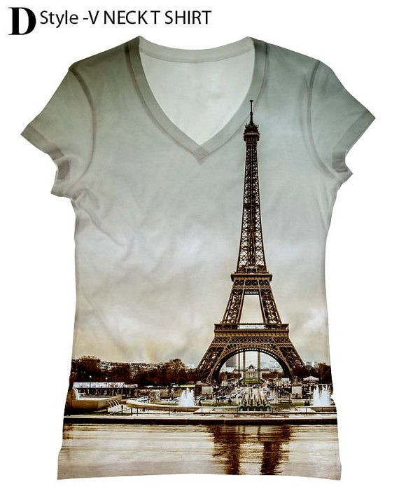 Paris Eiffel Tower Mens Short-Sleeve Polo Tee Shirt