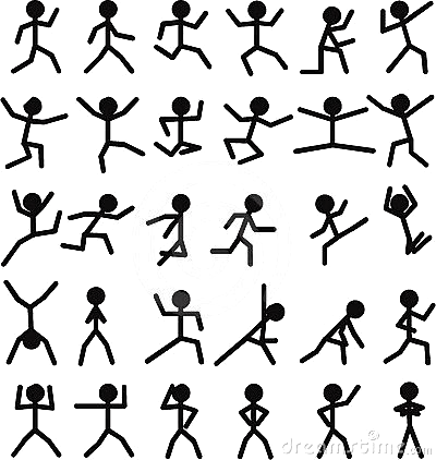 Running Figures To Use Stick Figure Drawing Flip Book Animation Stick Men Drawings