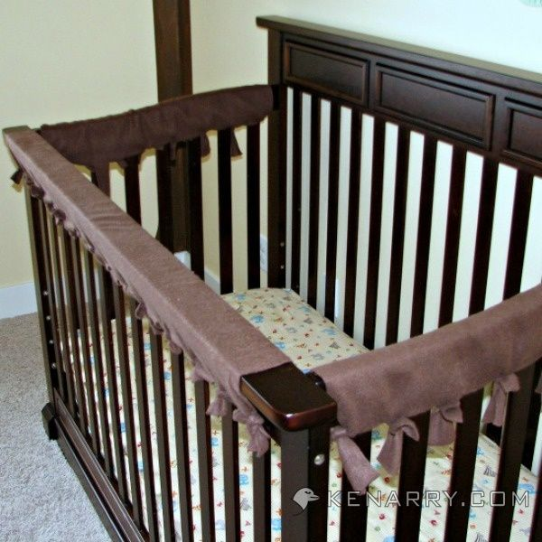 Crib Rail Cover Easy Idea With No Sewing Required Baby