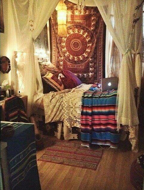 Boho style | Beds | Pinterest | Decoración de habitaciones ...