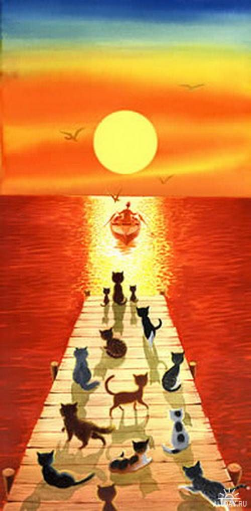 lovely scene -- and so accurate! Kitties know when there's fish to be had