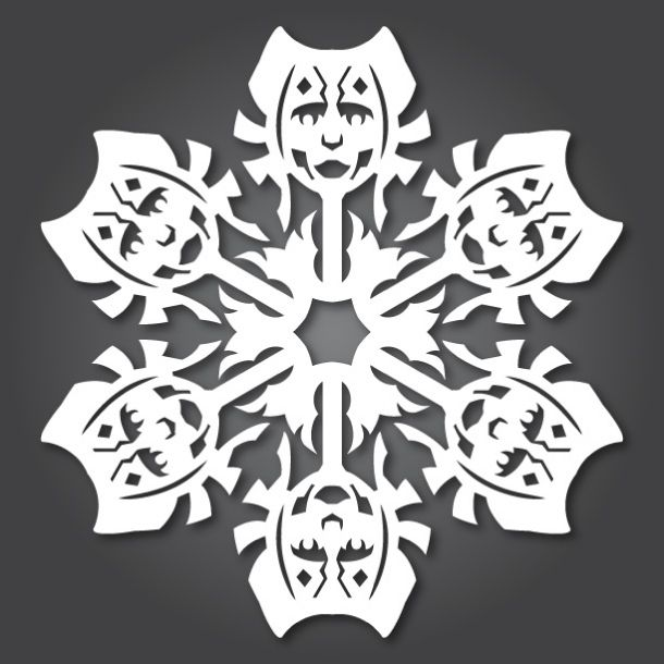 Flocons Star Wars En Kirigami  Paper Toys Papercraft And Craft