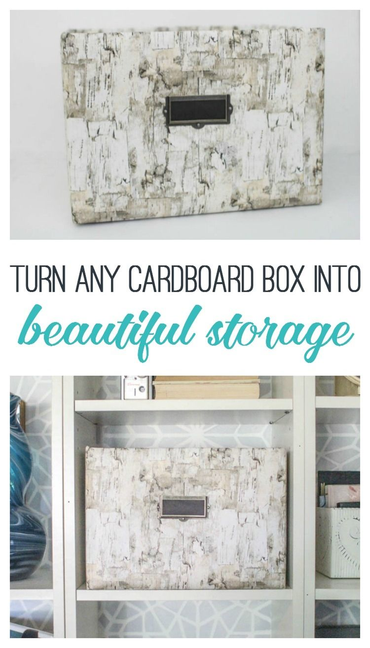 Turn Any Cardboard Box Into Beautiful Storage. Such An Easy Way To  Repurpose A Diaper Box Or Other Cardboard Box.