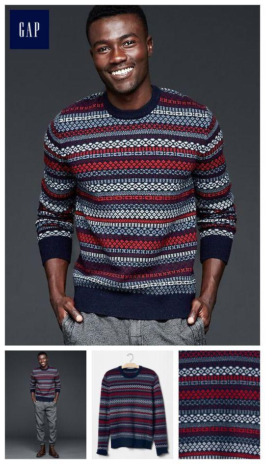 Gap multi fair isle stripe sweater blue print.   The Sporting ...