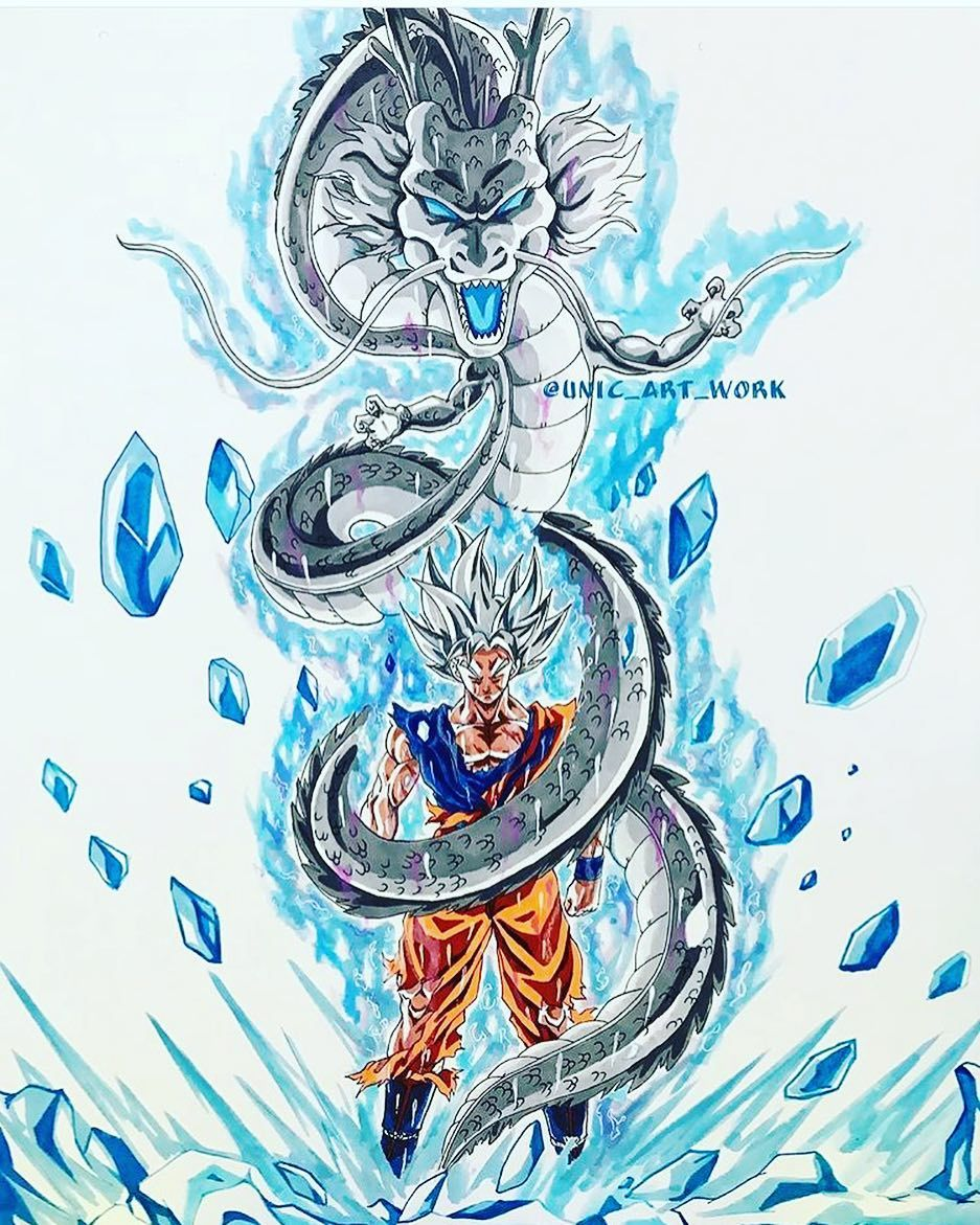 Goku Ultra Instinto Puño De Dragon Blanco