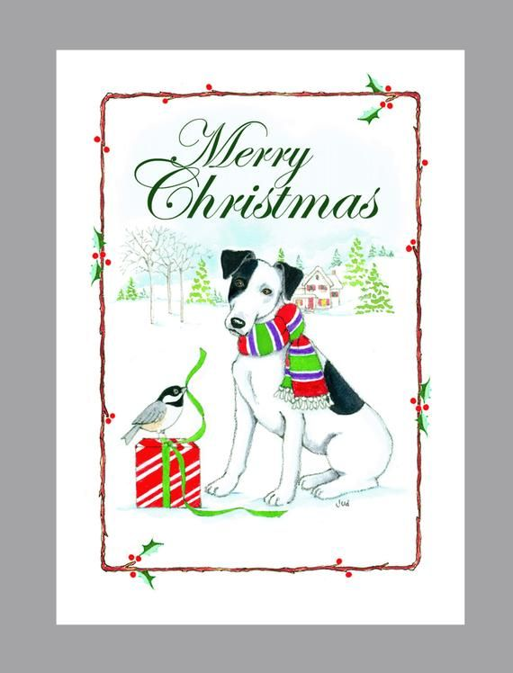 Fox Terrier, Smooth, Christmas Cards, Box of 16 Cards and 16