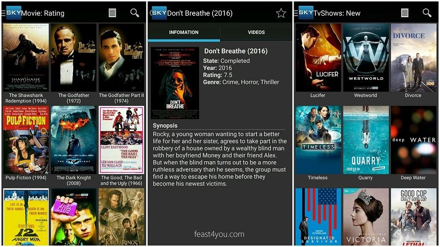 Download Sky HD Apk freely for Android. Watch HD movies