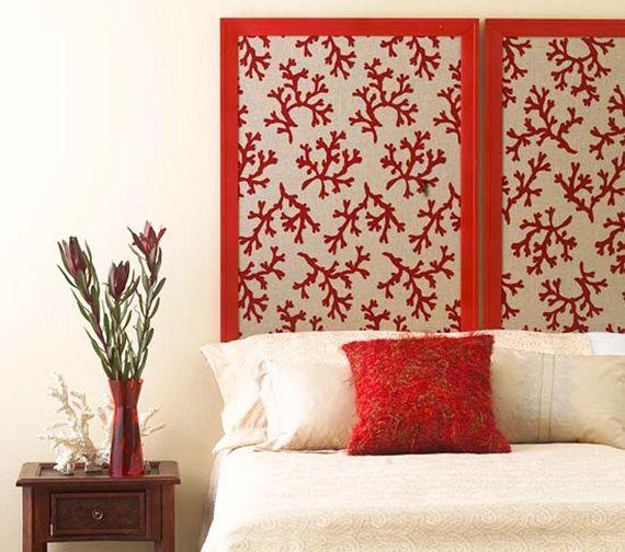 schlafzimmer inspiration für diy bett kopfteil aus wandschirm und - wohnideen fur schlafzimmer designs