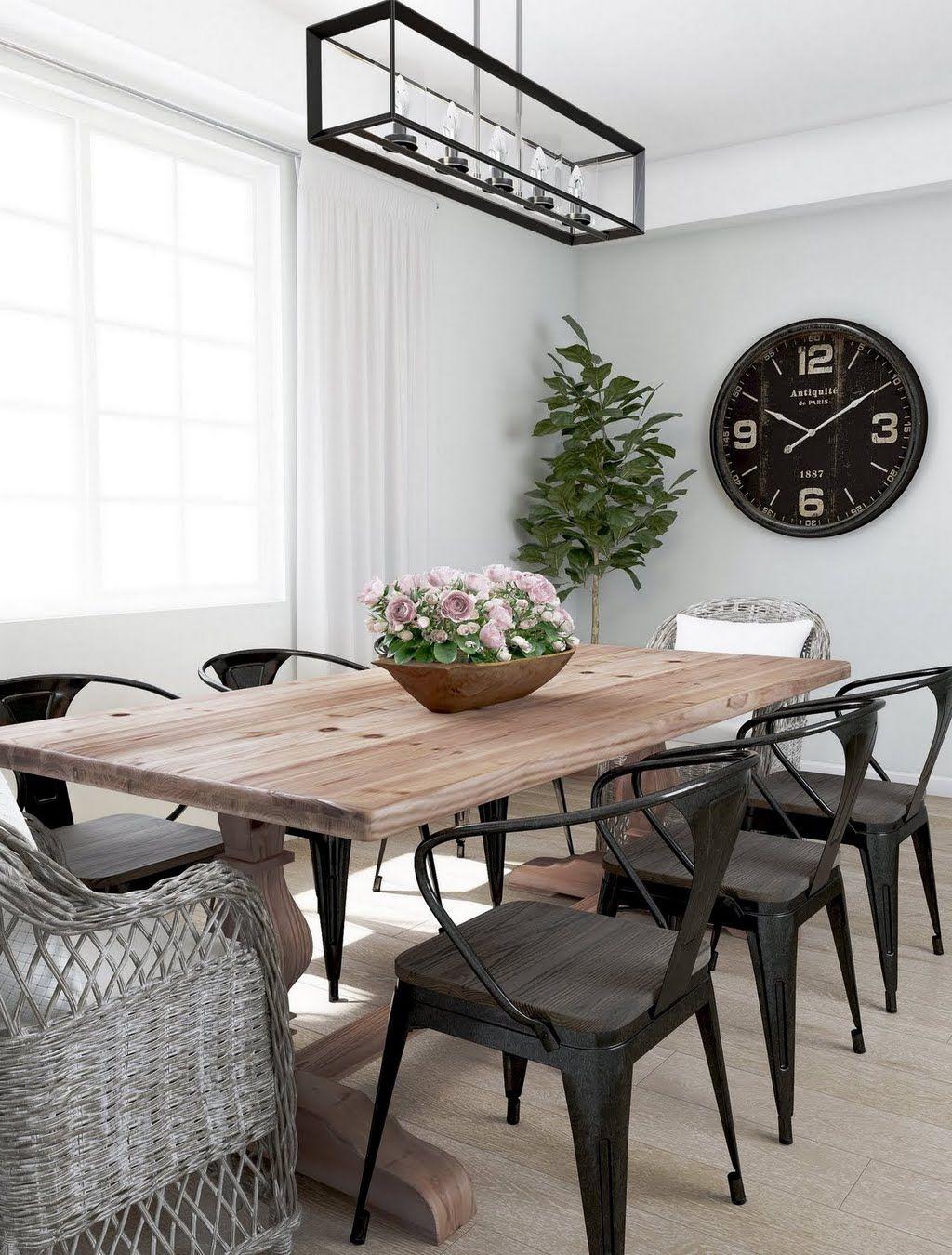 Amerihome Black Metal And Wood Dining Chair Set Of 4 801071