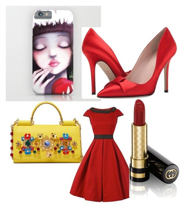 """""""Untitled #4"""" by tara-hastur on Polyvore featuring Dolce&Gabbana, Kate Spade and Gucci"""