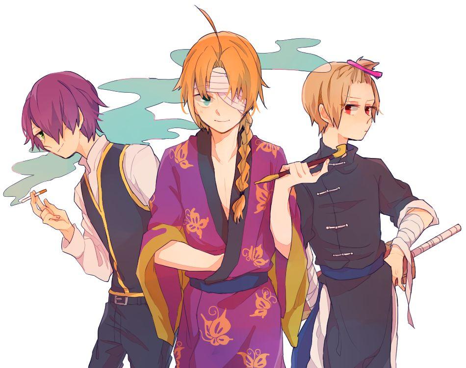 Anime Characters 170 Cm : Shinsuke kamui and sougo cm trio gintama