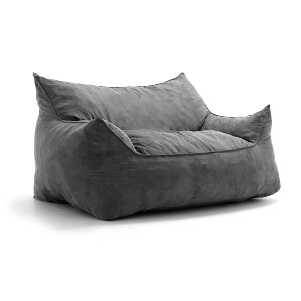 9cadf7ca1b8 FufSack Big Joe Imperial Microsuede Polyester and Memory Foam Bean Bag  Loveseat