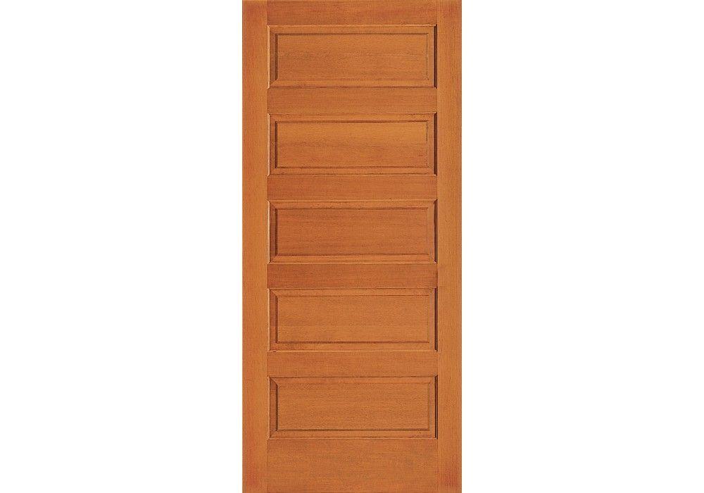 Vertical Grain Douglas Fir Interior Doors 5 Even Panel Eto Doors