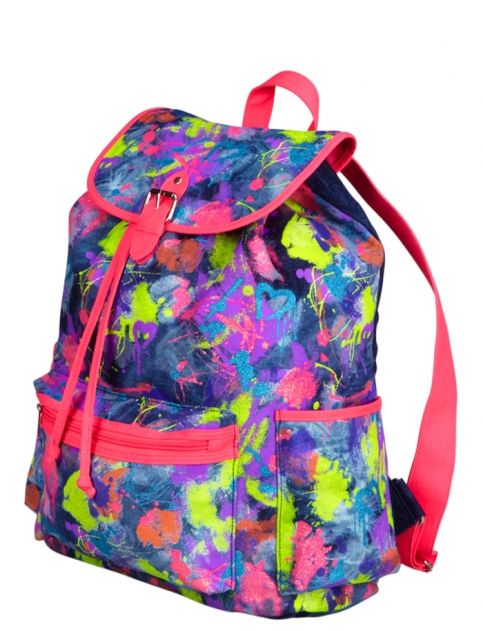 Large Denim Paint Splatter Rucksack | Girls Fashion Bags & Totes Accessories | Shop Justice