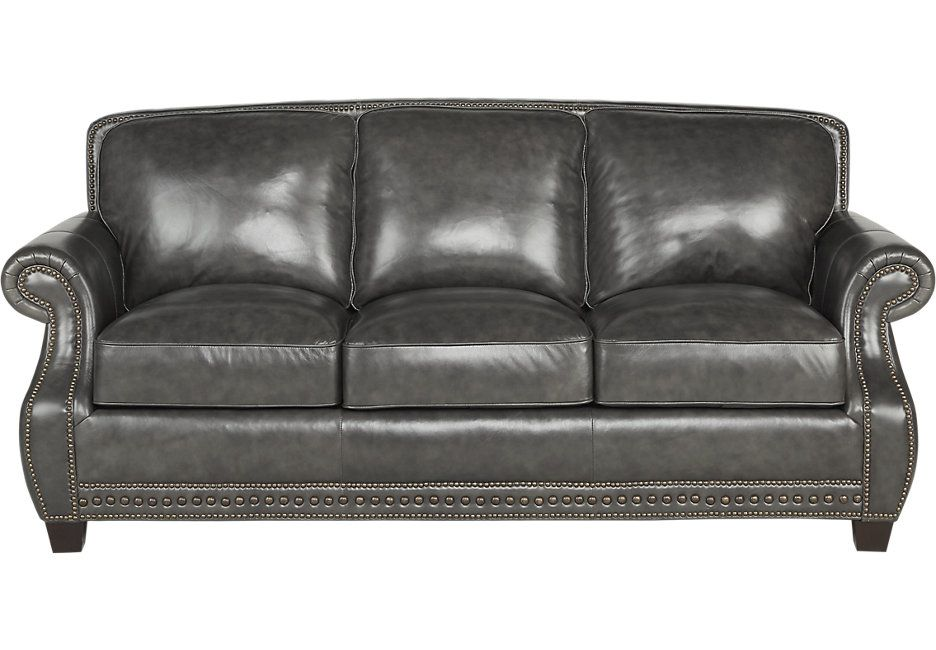 Sofa BedSleeper Sofa Frankford Charcoal Leather Sofa Sectional Living Rooms Gray