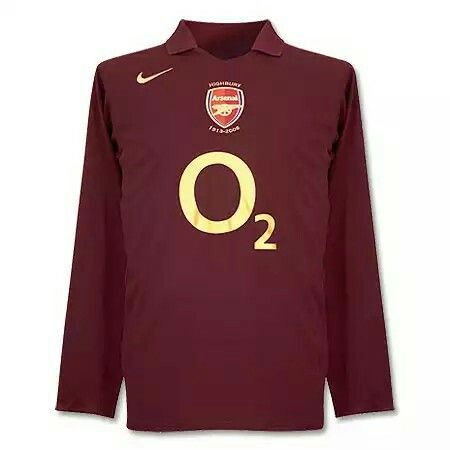 7b56aec9d1 Arsenal Home Kit 05-06 Nike Football Kits