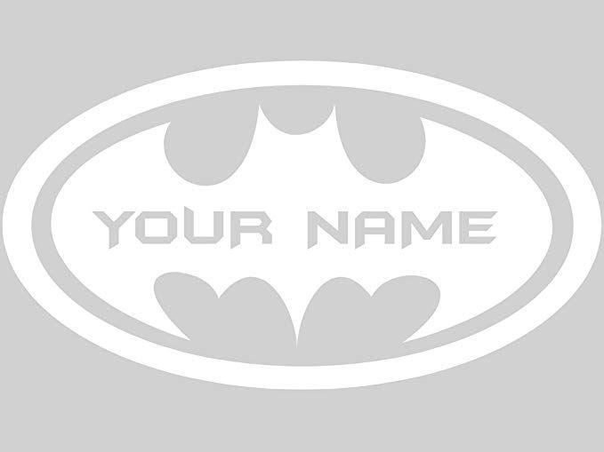 Chic Walls Removable Personalized Batman Logo Custom Name Text Wall Art Decor Decal Vinyl Sticker Mural Superhero Kids Room Nursery 60