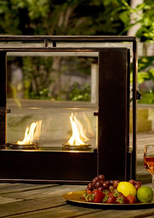 Gather around the glow of our Portable Indoor and Outdoor Fireplace!