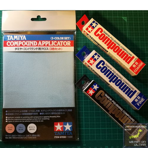 Tamiya Compound Applicator 3 Color Set 87090 from Japan